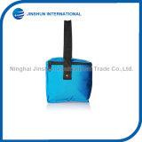 Saco azul relativo à promoção do almoço do saco do refrigerador 300d
