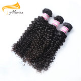 Extensiones rizadas rizadas brasileñas del pelo humano del pelo 20inch de la Virgen