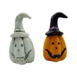 Zucca di ceramica artificiale di Halloween