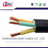 Cable de cobre plano del conductor de la chaqueta de goma para el submarino