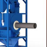 円形のビームのための鋼管のショットブラスト機械