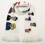 Вентиляторов шарфа высокого качества шарф теплых с подгонянным логосом