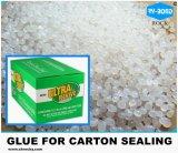工場価格Metalloceneはボール紙のカートンの完了のための透過熱い溶解の接着剤の接着剤を基づかせていた