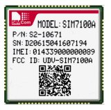 Modulo senza fili a più bande 4G di SIM7100A Lte /WCDMA/Gnss