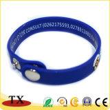 Wristband su ordinazione di Silcone dei braccialetti del Wristband del silicone di colore