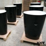 Gesundheitliche Ware-festes Oberflächenhotel-Schwarz-Badezimmer-Stein-Bassin