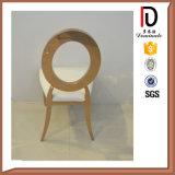 판매를 위한 고품질 스테인리스 타원형 뒤 식사 의자