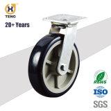Hochleistungs400kg Nutzlast-Oberseite-Platte PA-Fußrollen-Rad mit seitlicher Bremse