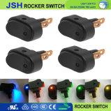 Interruttore leva inserita/disinserita di Spst dell'attuatore rotondo automatico del crogiolo di automobile dell'indicatore luminoso 12V del PUNTINO del LED