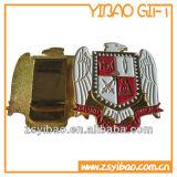 Gold überzog Metallabzeichen-/Lapel Pin mit Abnehmer-Entwurf (YB-SM-52)