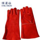 De lange die Handschoenen van de Veiligheid van het Lassen van het Leer van de Spleet van de Koe worden gemaakt
