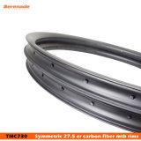 La fibra MTB del carbón bordea 27.5 que la CX Bike el borde gordo de las ruedas de la bici 40 milímetros de ancho