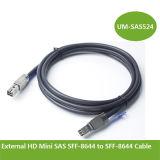 Sff-8644 케이블에 외부 HD 소형 Sas Sff-8644 1m