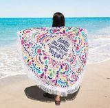 Toalha de praia redonda de Tippet da proteção solar