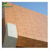 紫外線抵抗力がある装飾的な木製の穀物HPLのパネルの壁のクラッディング