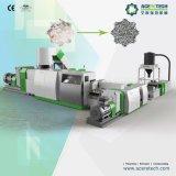 Dos etapas de reciclaje de plástico y sistema de peletización para PP / PE / PVC / PA Cine