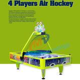 硬貨によって作動させる電子空気ホッケーはゲーム・マシン4playersのホッケー表のアーケード機械テーブルの上の買戻しの空気ホッケーを遊ばす