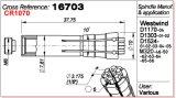 [وستويند] [بكب] يحفر آلة محور دوران 16703 حل