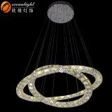 LEDの水晶ペンダント灯ライト、現代天井灯のシャンデリア(OM77059)