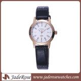 ステンレス鋼の腕時計の本物のLetherの腕時計の日本動きの水晶腕時計