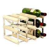Het houten Rek van de Vertoning van de Opslag voor Wijn in Kelder