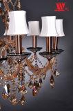 Araña de cristal de vidrio tradicional con vestidor D5D-L17