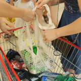 La main tricoter Crochet Sac shopping Net, le coton sac Mesh