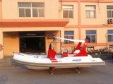 Liya膨脹可能なボート19フィートのガラス繊維の漁船の肋骨のボートの