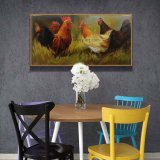 Colección de Arte de la granja de pollos a mano pinturas al óleo para la Decoración de pared