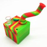 BPA libèrent la conduite d'eau de fumée de silicones de Weed d'herbe de tabac de brûleur à mazout avec la saucisse de cuvette en verre ou de quartz