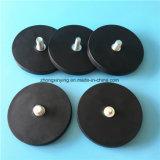 Держатель магнита бака резиновый Coated магнитный для магнитов рожочка крыши автомобиля круглых черных
