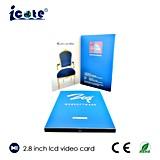 Het Gebruik van de reclame de VideoKaarten van 2.8 Duim, LCD de Kaart van het Huwelijk van het Scherm
