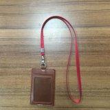 Rojo de alta calidad Correa de cuello con cordón de Nylon titular de la tarjeta ID.