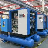 Compresor de aire vertical del tornillo de la integración con el secador y el tanque