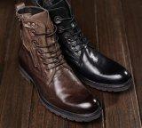 Резиновая подошва десен теплой зимой кожа лодыжки ботинки для мужчин