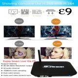 Коробка высокого качества E9 Amlogic S912 2.4G 5.8g WiFi TV