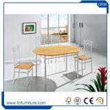 Vector oval y sillas del jardín respetuoso del medio ambiente de cuatro colores fijados