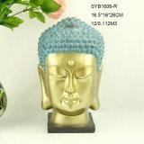 Estatua principal de Buddha de la resina casera hecha a mano de la decoración para la venta