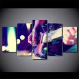 5 изображений стены аппаратуры нот картины гитары искусствоа холстины части напечатанных HD классических для живущий комнаты