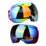 Lunettes colorées de ski de lunettes de ski avec les glaces faites sur commande de ski d'anti brouillon