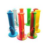 熱い販売の携帯用シリコーン水煙る管のシリコーン油の軽打の装備の煙る管