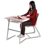 Colégio de madeira Mobiliário escolar do aluno fixo de mesa e cadeira