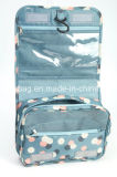 Sac cosmétique se pliant s'arrêtant de course de tissu en nylon floral de configuration (BDY-1709058)