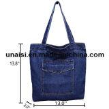 Maak de Geborduurde Handtassen van de Totalisator van de Schouder van het Denim Dame waterdicht Canvas Bag