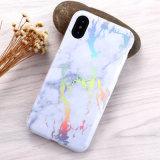 Новые оцинкованные яркий мраморный телефон чехол для iPhone X/8/8плюс
