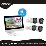 kit sin hilos de 1080P 4CH NVR cámaras de seguridad del CCTV del IP de la pantalla de 10.1 pulgadas