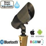 12V를 가진 Bluetooth RGBW LED 정원 빛은 조정가능한 광속 각을 방수 처리한다