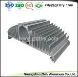 Алюминий/алюминиевый профиль профиль для теплоотвода с Anodizing и обработки с ЧПУ