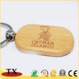 A melhor corrente chave de madeira em branco Keychains de madeira do presente DIY com logotipo feito sob encomenda