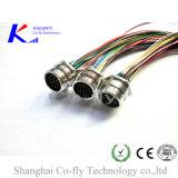 Передний держатель 12, 17, 19 вспомогательных оборудований электрического кабеля фланца Pin M23 круговых с отрезком провода
